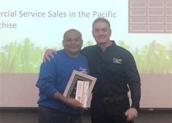 2018 Highest Commercial Service Sales in the Pacific Lawn Sprinklers Franchise