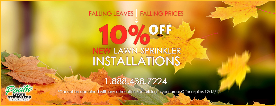 Pacific Lawn Sprinklers 10% Off Installations Promotion