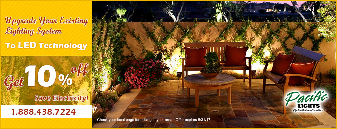 Upgrade Lights to LED Landscape Lighting 10% Off Promotions