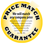 Price Match Guarantee Sign