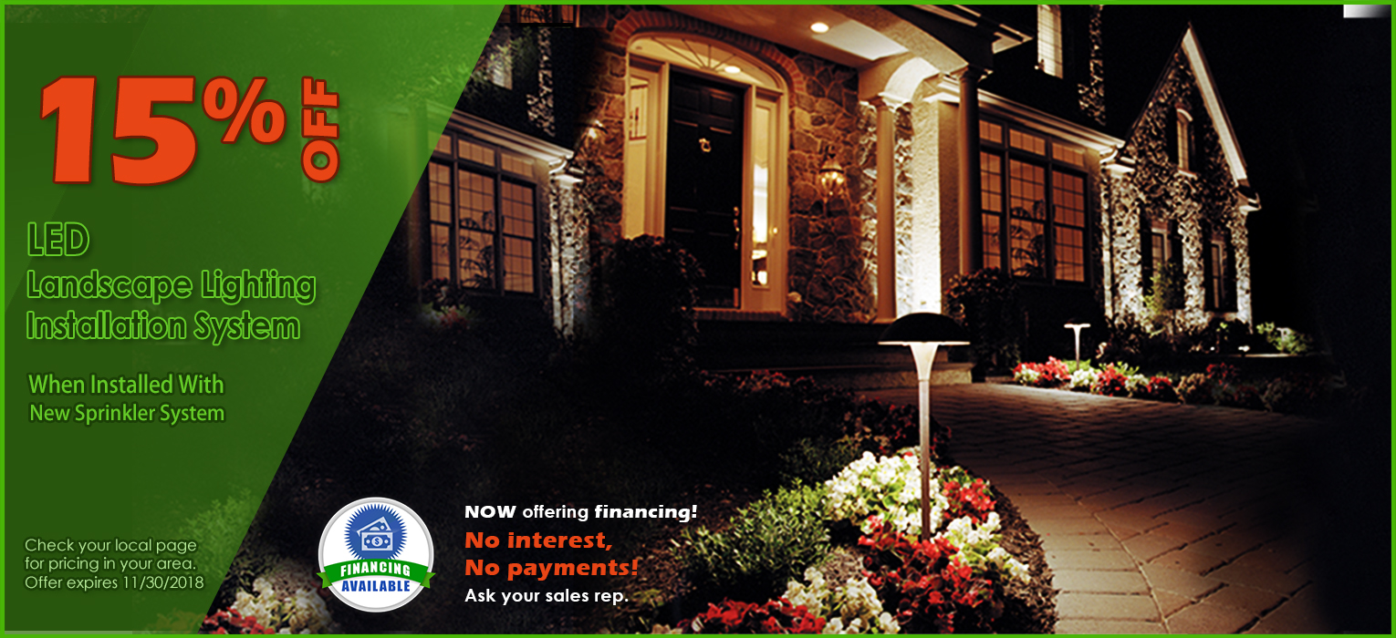 Pacific Lawn Sprinklers Landscape Lighting Promotion