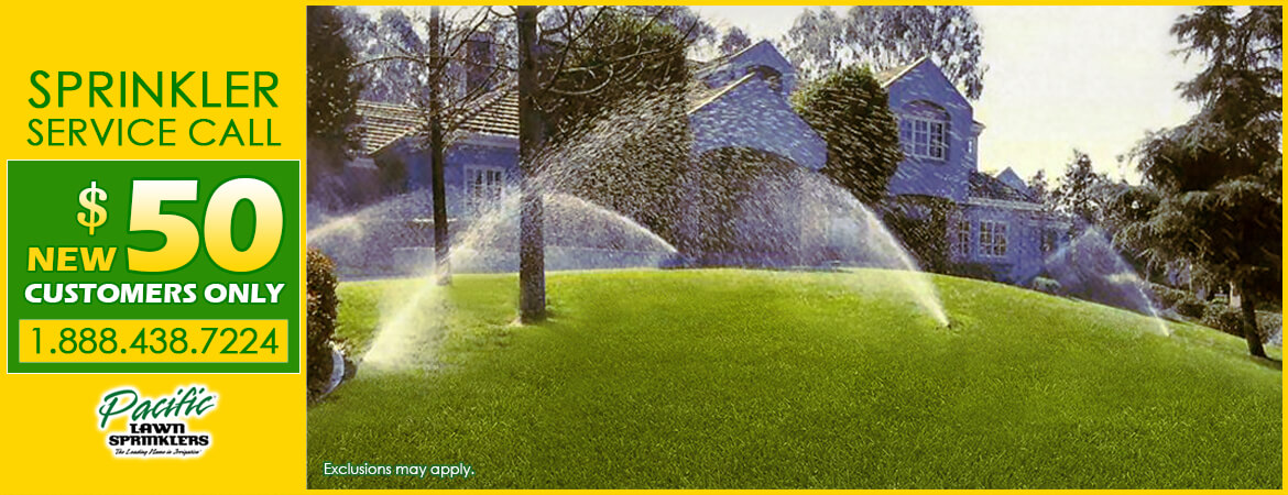 Green lawn with Pacific Lawn Sprinklers!