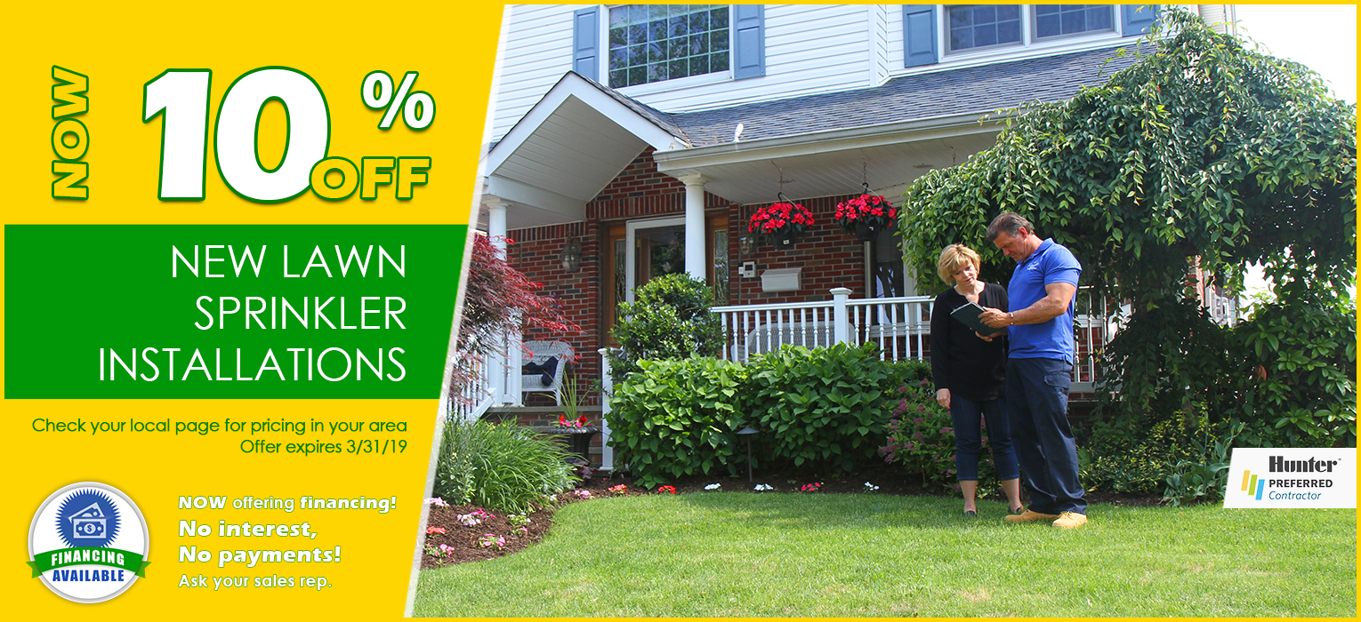 Pacific Lawn Sprinklers Installations 10% Off