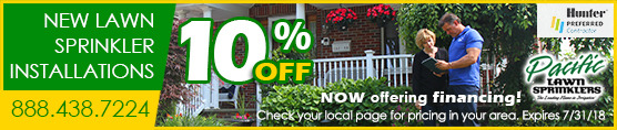10% off Sprinkler Installations