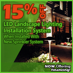 15% Off Landscape Lighting Installations