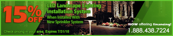 15% Off Lighting with Sprinkler Installation